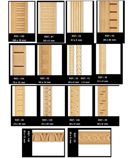 Molduras de madeira para m veis e rodap s - Tipos de molduras ...